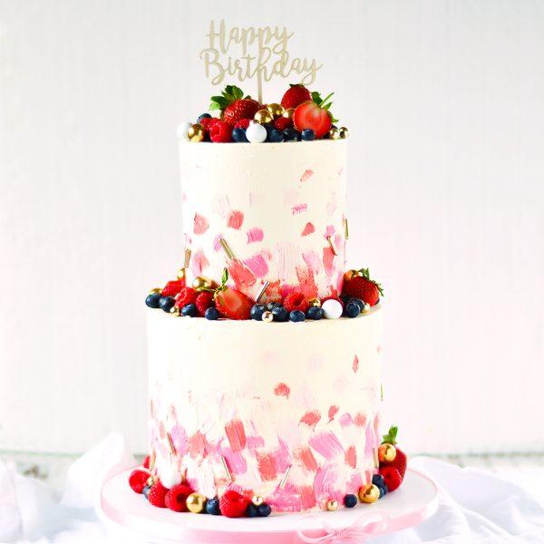 Geburtstagstorte abstrakt
