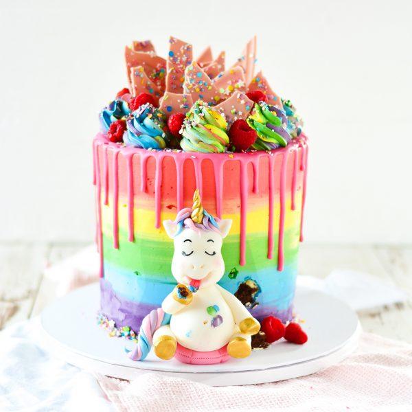 Einhorn Torte Regenbogen