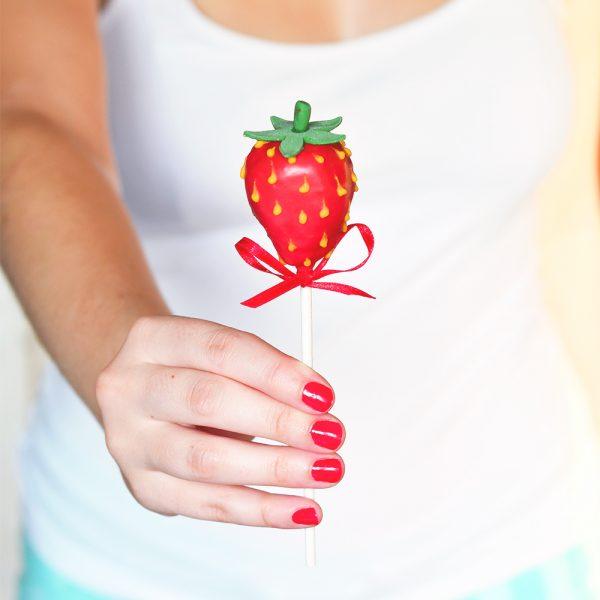 Erdbeer Cakepops