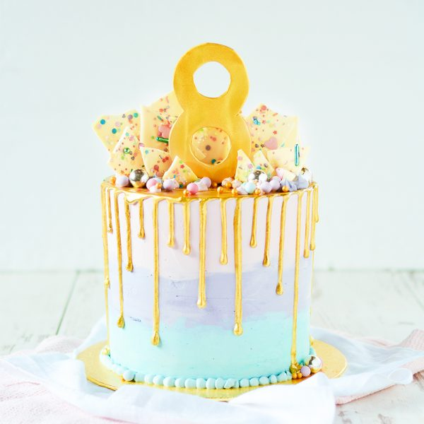 Pastell Geburtstagstorte
