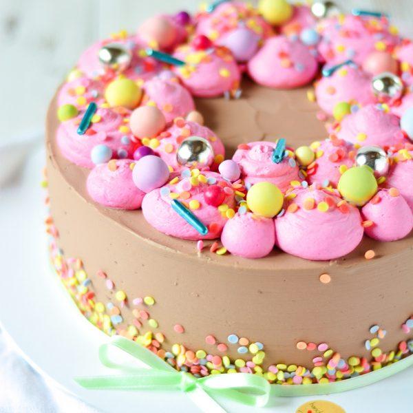 Kunterbunte Geburtstagstorte