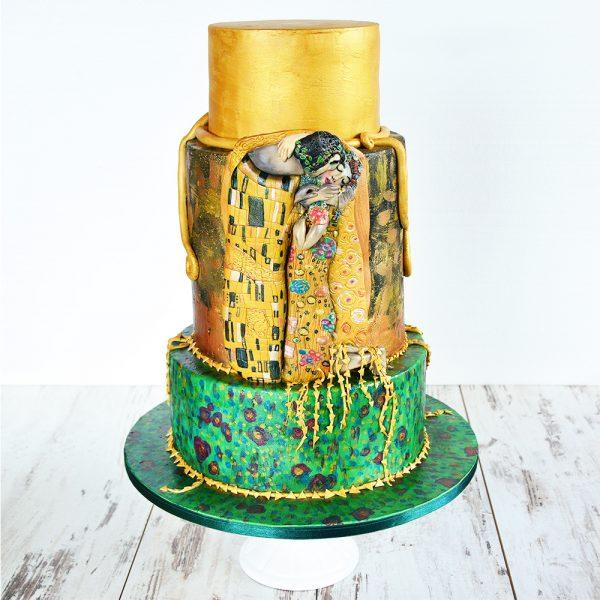 Hochzeitstorte: Gustav Klimt - Der Kuss