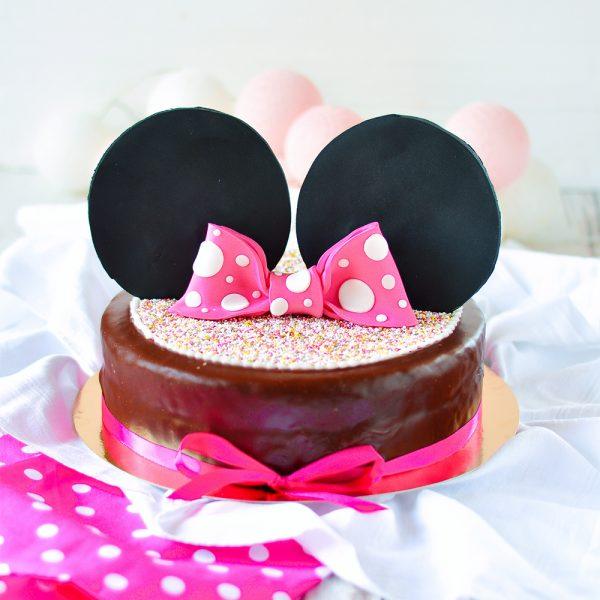 Geburtstag Sachertorte Maus rosa