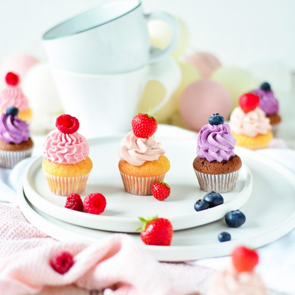 Mini Cupcakes Beeren
