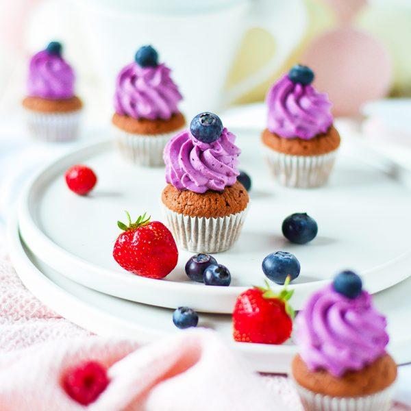 Mini Heidelbeer Cupcakes