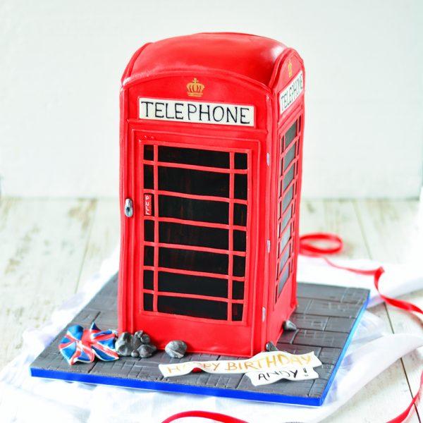 Englische Telefonzelle Torte