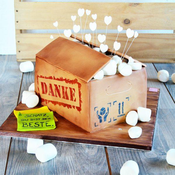 Umzugskarton Torte